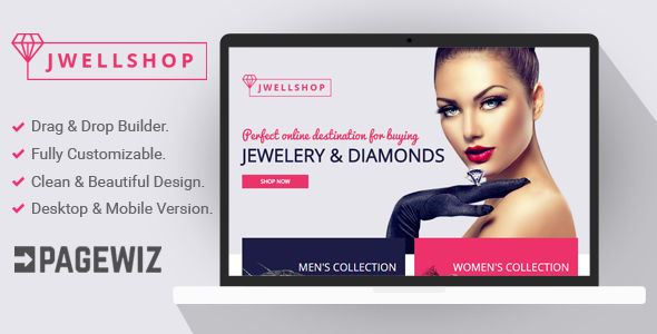 Jwell Shop by Demustang (landing page template for PageWiz)