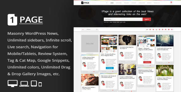 Page by An-Themes (WordPress theme with infinite scrolling)