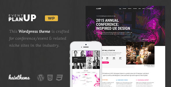 PlanUp by Haintheme (event & conference WordPress theme)