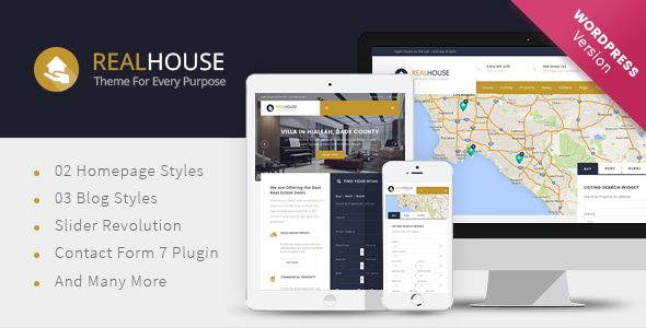 Realhouse by Kopasoft (real estate and realtor WordPress theme)