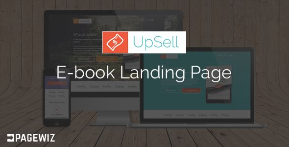 UpSell by Pixelosaur (landing page template for PageWiz)