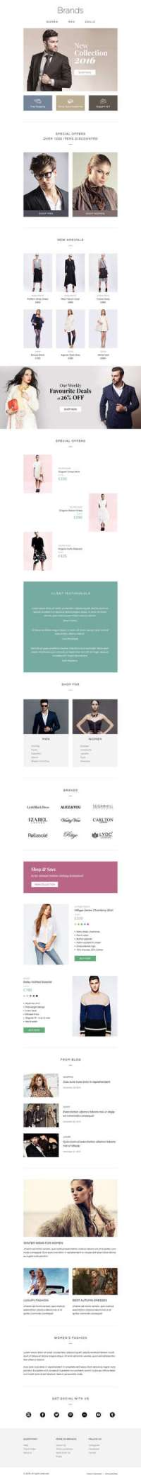 Brands - eCommerce Responsive Email Template