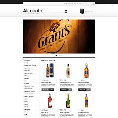 Alcoholic Beverage Store PrestaShop Theme (PrestaShop theme for liquor, alcohol, beer, and wine stores) Item Picture