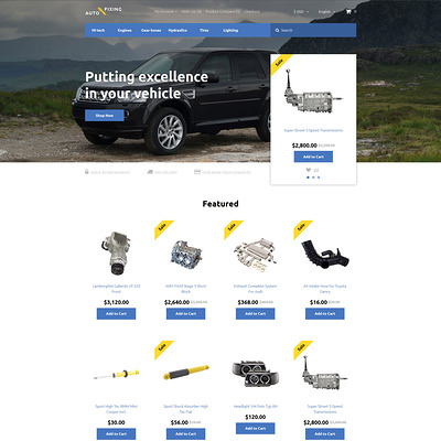 Auto Fixing OpenCart Template (OpenCart theme for automotive, car, and vehicle stores) Item Picture