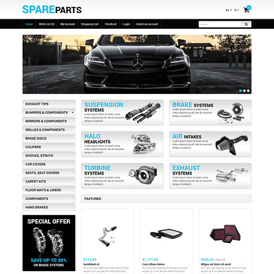 Auto Store OpenCart Template (OpenCart theme for automotive, car, and vehicle stores) Item Picture