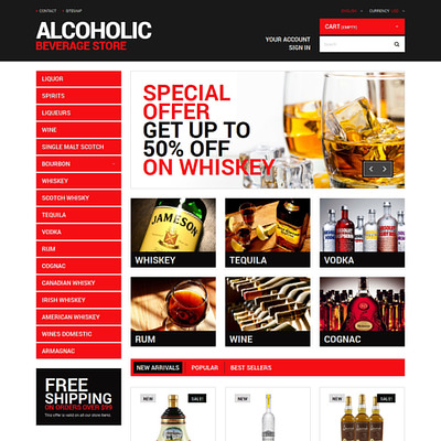 Beverage Planet PrestaShop Theme (PrestaShop theme for liquor, alcohol, beer, and wine stores) Item Picture