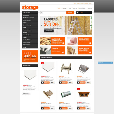Building Materials Shopify Theme (Shopify theme for tools and home improvement stores) Item Picture