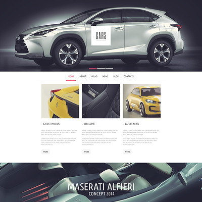 Car Passion WordPress Theme (WordPress theme for car, vehicle, and automotive websites) Item Picture