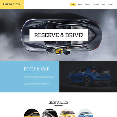 Car Rental Joomla Template (Joomla template for car, vehicle, and automotive websites) Item Picture
