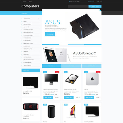 Computer Hardware PrestaShop Theme (PrestaShop theme for computer hardware stores) Item Picture