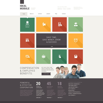 Consulting Agencies Joomla Template (Joomla template for consultants and consulting firms) Item Picture