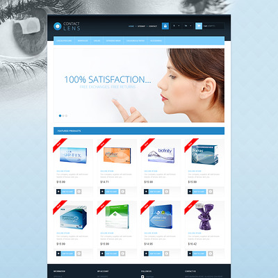 Contact Lens PrestaShop Theme (PrestaShop theme for health and medical stores) Item Picture