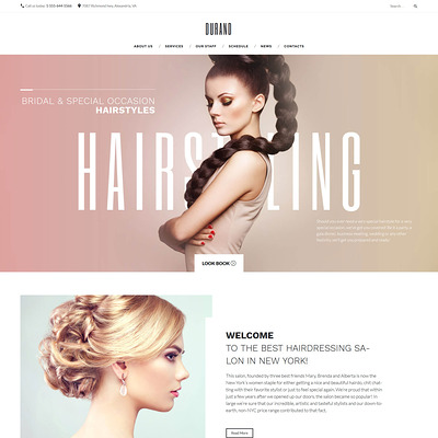 Durand (WordPress theme for hair and beauty salons and spas) Item Picture