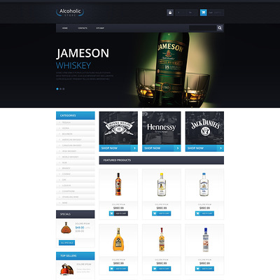Elite Alcohol PrestaShop Theme (PrestaShop theme for liquor, alcohol, beer, and wine stores) Item Picture