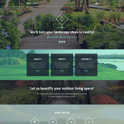 Exdesimo WordPress Theme (WordPress theme for landscapers and gardeners) Item Picture