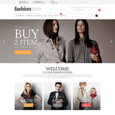 Fashion Store Magento Theme (Magento theme for mens and womens clothing) Item Picture
