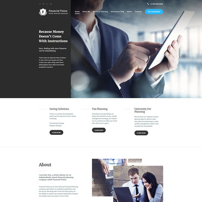 Financial Advision Joomla Template (Joomla template for financial websites) Item Picture