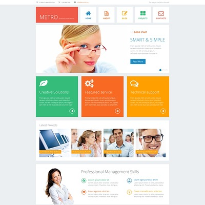 Financial Advisor Responsive Joomla Template (Joomla template for financial websites) Item Picture