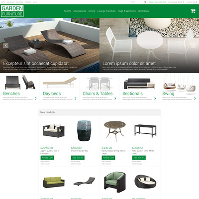 Garden Furniture Sheds Magento Theme (Magento theme for furniture stores) Item Picture