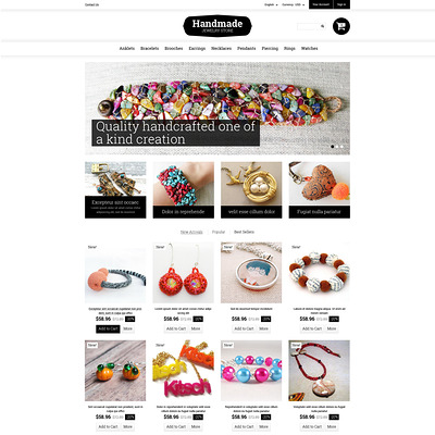Handmade Jewelry PrestaShop Theme (PrestaShop theme for jewelry stores) Item Picture