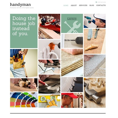 Handyman for Success Joomla Template (Joomla template for construction companies) Item Picture