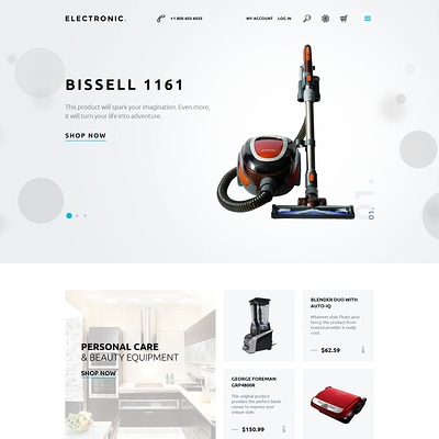 Home Electronics Magento Theme (Magento theme for electronics stores) Item Picture