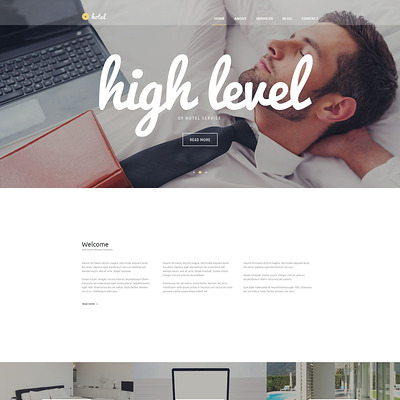 Hotel Business WordPress Theme (WordPress theme for hotels) Item Picture