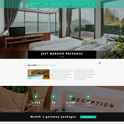 Hotel Suite Joomla Template (Joomla template for hotels) Item Picture