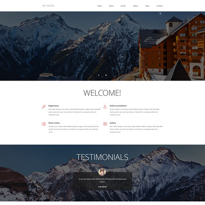 Hotels and Motels Joomla Template (Joomla template for hotels) Item Picture