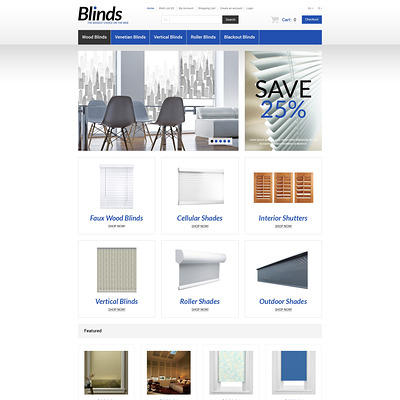 Interior Blinds and Curtains OpenCart Template (OpenCart theme for interior design and home decor stores) Item Picture