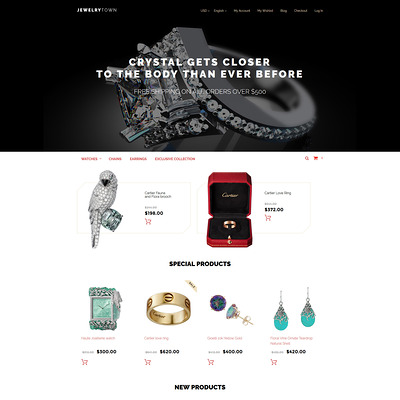 JewelryTown Magento Theme (Magento theme for selling jewelry and watches) Item Picture