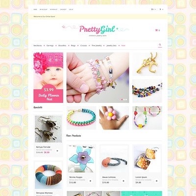 Kids Jewelry Magento Theme (Magento theme for selling jewelry and watches) Item Picture