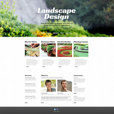Landscape Design Alive WordPress Theme (WordPress theme for landscapers and gardeners) Item Picture