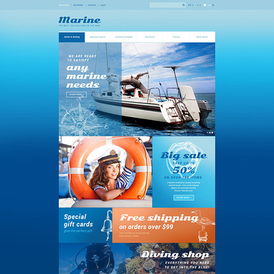 Marine Store Magento Theme (Magento theme for marine, yachting, and diving stores) Item Picture