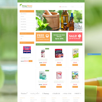 Medical Treatment Substances Shopify Theme (Shopify theme for medical and health stores) Item Picture