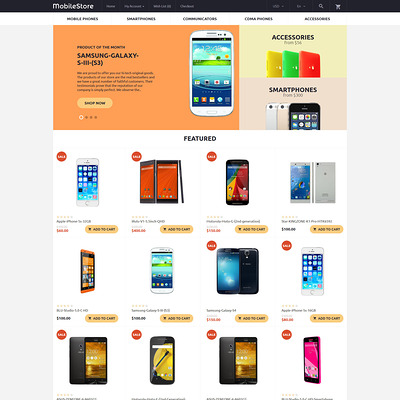 MobileStore OpenCart Template (OpenCart theme for electronics) Item Picture