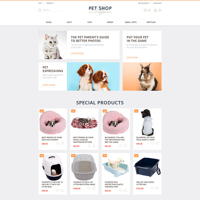 Pet Shop OpenCart Template (OpenCart themes for pets and animals) Item Picture