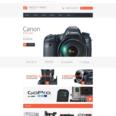 Photo and Video Store OpenCart Template (OpenCart theme for electronics) Item Picture