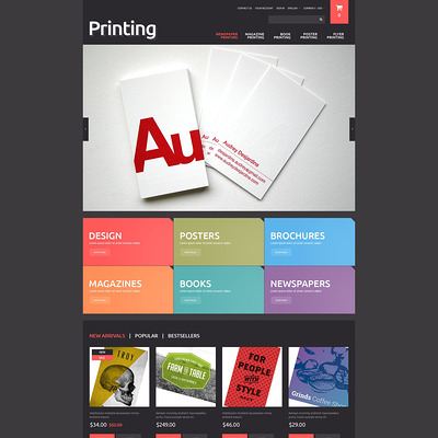 Printing Solutions PrestaShop Theme (PrestaShop theme for online print stores) Item Picture