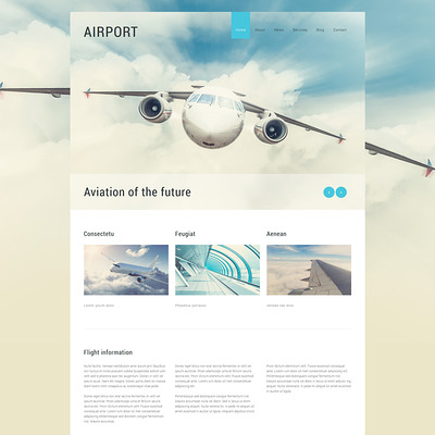 Private Airline Joomla Template (Joomla template for transportation) Item Picture