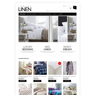 Soft, Luxury Linen OpenCart Template (OpenCart theme for interior design and home decor stores) Item Picture