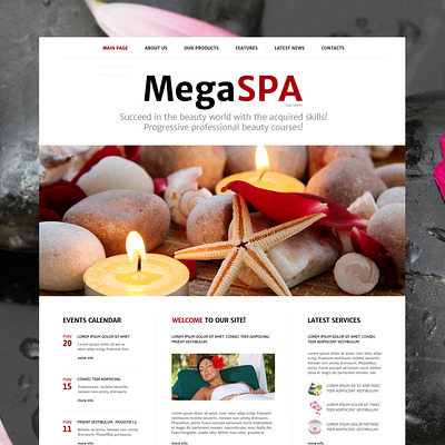 Spa Salon Joomla Template (Joomla template for spas and beauty salons) Item Picture