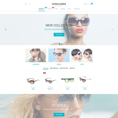 Sunglasses PrestaShop Theme (PrestaShop theme for sunglasses and eyewear) Item Picture