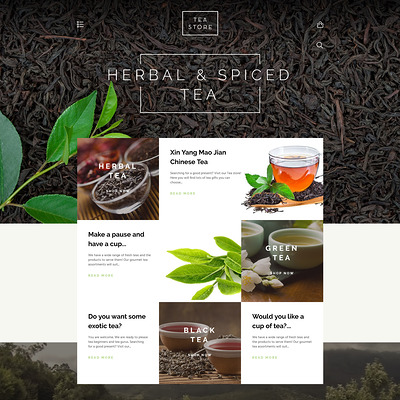 Tea Store Shopify Theme (Shopify theme for wine, coffee, juice, tea, and other drinks) Item Picture