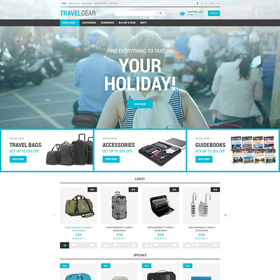 Travel Gear PrestaShop Theme (PrestaShop theme for travel websites) Item Picture
