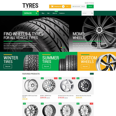 Wheels and Tyres Shopify Theme (Shopify theme for car, vehicle, and automotive stores) Item Picture