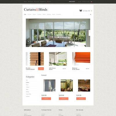 Window Decor Responsive OpenCart Template (OpenCart theme for interior design and home decor stores) Item Picture