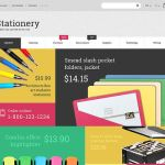 best magento themes office supplies stationery feature