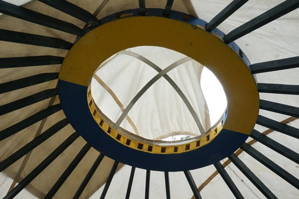 The eye of God in the yurt.