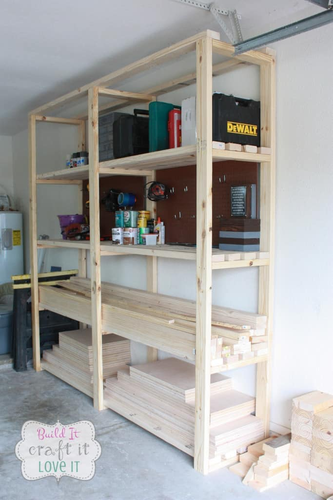 2x4 garage hanging shelving ideas - Easy DIY Garage Shelving